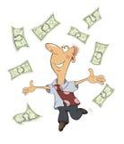 Un hombre de negocios con el ` Ð?Ð del cartoonÐ del dinero·† DEL ‹Ð¸Ì DEL ½ Ñ DEL ½ Ð DEL  Ð DEL ¼ Ñ DEL ‹Ð DE Ñ - 4 stock de ilustración
