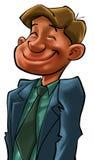 Un hombre de negocios feliz ilustración del vector