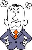 Un hombre de negocios joven enojado stock de ilustración