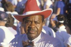 Un hombre del African-American en el olímpico mayor de los E.E.U.U. Imagen de archivo