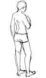 Un hombre en un bañador devuelto libre illustration