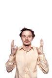Un hombre en un estado del choque Foto de archivo