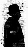 Un hombre en un sombrero y un anteojos libre illustration