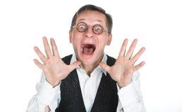 Un hombre en vidrios Imagen de archivo libre de regalías