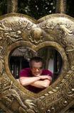 Un hombre envejecido centro Foto de archivo libre de regalías