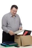Un hombre es buscador de trabajo afortunado Fotografía de archivo libre de regalías