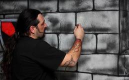 Un hombre hace un gráfico Fotos de archivo