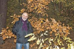 Un hombre maduro con una barba en una chaqueta Foto de archivo libre de regalías