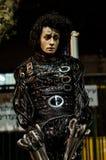 Un hombre que presenta como estatua viva en un festival Fotos de archivo