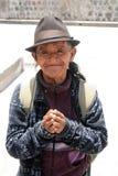 Un hombre sin hogar agradecido Imagenes de archivo