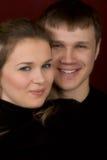 Un hombre sonriente y la mujer Fotos de archivo libres de regalías