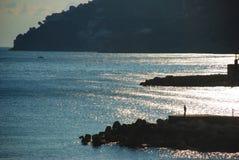 Un hombre y el mar Fotografía de archivo