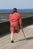 Un homme à jambes Photographie stock