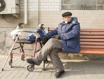 Un homme aîné Photos stock