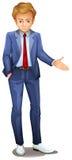 Un homme d'affaires se tenant utilisant un vêtement formel Image libre de droits