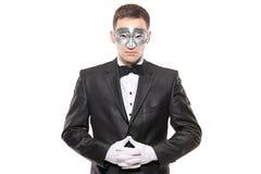 Un homme dans le déguisement Image libre de droits
