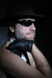 Un homme dans un chapeau Photo libre de droits
