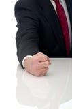 Un homme fâché d'affaires Image stock