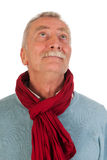 Un homme plus âgé recherchant Photographie stock libre de droits
