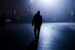 Un homme silencieux Photographie stock libre de droits