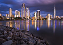 Un horizon de la Gold Coast Image stock