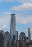 Un horizon de New York City de tour de World Trade Center Photos stock