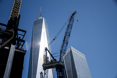Un horizon grand Apple de New York City Etats-Unis de construction de World Trade Center Image stock