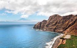 Un horizontal étonnant de La Gomera Image stock