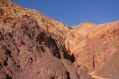 Un horizontal de bible - désert Sinai. L'hiver Image stock