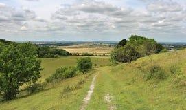 Un horizontal rural anglais dans les côtes de Chiltern photo stock