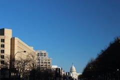 Un horizonte de DC con el capital Fotos de archivo