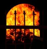 Un horno para el dinero ardiente del fantasma Imágenes de archivo libres de regalías