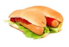 Un hot dog savoureux Photographie stock