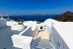 Un hotel de lujo agradable en Fira, Santorini Fotografía de archivo libre de regalías