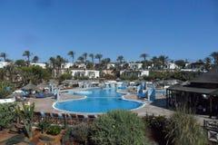 Un hotel nel BLANCA di Playa sull'isola di Lanzarote in isole Canarie Immagine Stock