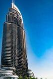 5* un hotel parzialmente bruciato Dubai Immagine Stock