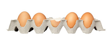 Un huevo agrietado Foto de archivo