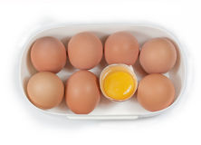 Un huevo del rectángulo imagen de archivo