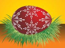 Un huevo en hierba Fotografía de archivo libre de regalías
