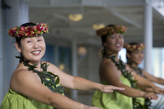 un hula dei 2 danzatori Immagine Stock Libera da Diritti