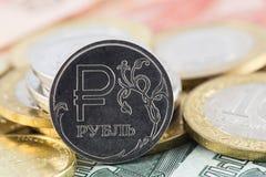 Un'icona della rublo Immagine Stock