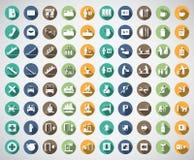 Un'icona di base di 80 punti Immagine Stock Libera da Diritti