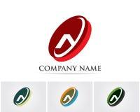 Un'icona di Logo Business Template Vector della lettera Illustrazione Vettoriale