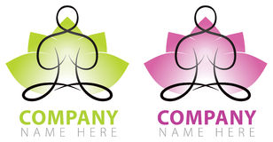 Logo di yoga Immagine Stock