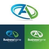 Un'icona e un logo della lettera illustrazione di stock