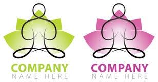 Logotipo de la yoga Imagen de archivo