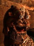 Un idole nui qui s'appelle le vahana de yali dans le temple antique de Brihadisvara dans Thanjavur, Inde Photos libres de droits