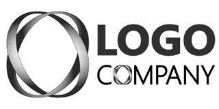 Un'illuminazione realistica intrecciante di due lettere o nel logo 3D illustrazione di stock