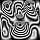 Un'illusione ottica in bianco e nero Illustrazione Vettoriale