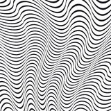 Un'illusione ottica in bianco e nero illustrazione di stock